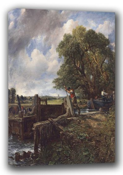 Constable, John: The Lock. Fine Art English Landscape Canvas. Sizes: A3/A2/A1 (00905)